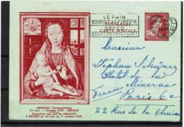 LCTN57/2 - BELGIQUE EP CP ILLUSTREE AOÜT 1939 PETITE DECHIRURE - Postcards [1934-51]