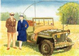Jeep  -  US Army  - Aquarelle Par Jean-Luc Marsaud (signée)  - (A4 30x21cms Art Print) - Matériel