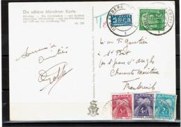 LCTN57/2 - ALLEMAGNE FEDERALE CPA OCTOBRE 1954 TAXEE EN FRANCE - [7] République Fédérale