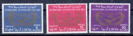 1.1.1965; Königreich Libyen - Zusammenarbeit, Mi-Nr. 175 A - 177A; Postfrisch, Los 51864 - Libyen