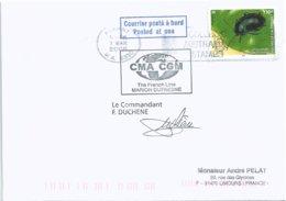 YT 961 - Insecte Chrysomèle - Lettre Postée à Bord Du MD - Albany - Australie - 07/03/2006 - Briefe U. Dokumente