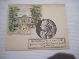 HOTEL De NOAILLES  75 LE GENERAL De LA FAYETTE Epousa En Cet Hotel Marie Francoise De Noailles Le 11 Avril 1774  TBE - Visitekaartjes