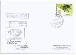 YT 960 - Insecte Chrysomèle - Lettre Postée à Bord Du MD - Sydney - Australie - 01/03/2006 - Briefe U. Dokumente