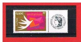 PERSONNALISE - 2002 - N°3479A - INVITATION AVEC VIGNETTE CERES  - Y & T - COTE: 5 EUROS - France