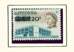 ANTIGUA  -  1970 Surcharge 20c On 25c Unmounted/Never Hinged Mint - Antigua Und Barbuda (1981-...)