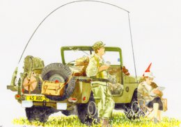 Jeep  -  L'Armée  - Aquarelle Par Jean-Luc Marsaud (signée)  - (A4 30x21cms Art Print) - Ausrüstung
