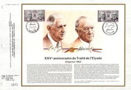 """"""" TRAITE FRANCO-ALLEMAND / GENERAL DE GAULLE """" Sur Feuillet CEF N°té De 1988 N° YT 2501 + ALL N° 1183. Parfait état FDC - De Gaulle (General)"""