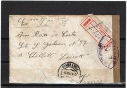 LCTN57/2 - PORTUGAL LETTRE RECOMMANDEE MAI 1940 CENSURE - 1910-... République