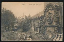 GENT   RUINES DE ST  BAVON - Gent