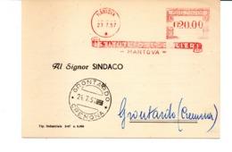 1957 EMA Affrancatura Meccanica Rossa Freistempel Mantova Istituti Ospedalieri - Mantova - - Affrancature Meccaniche Rosse (EMA)