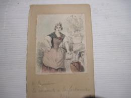 LA SERVANTE A LA FONTAINE   Le Haut Collée Sur Carton  TBE - Prints & Engravings