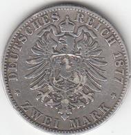 Etats Allemands, PRUSSIA, Wilhelm V,   2 Mark 1877  A SUPERBE - 2, 3 & 5 Mark Silver