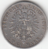 Etats Allemands, PRUSSIA, Wilhelm V,   2 Mark 1877  A SUPERBE - [ 2] 1871-1918 : Empire Allemand