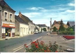 MEZERAY - Rue Principale - Voiture : Citroen Ami 6 - Peugeot 404 - France