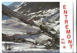 CPM  De  ENTREMONT  (74)  -  Vue  Générale  Et  Champ  De  Ski  Du  Platon      //   TBE - Frankrijk