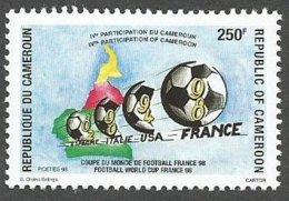 Cameroun Cameroon 1998 World Cup Football France 250f Mi 1235 Neuf Mint - Kamerun (1960-...)