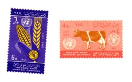 Yemen A.R. 1966-FAO,vache,blé--MI 283/4 ***MNH- - ACF - Aktion Gegen Den Hunger