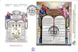 """"""" REVOLUTION FRANCAISE / DECLARATION DES DROITS DE L'HOMME """" Sur Env. 1er Jour Grand Format De 1989 N°YT BF 11 Parf état - Franz. Revolution"""