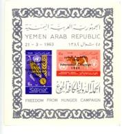 Yemen A.R. 1966-FAO,vache,blé--MI B42 ***MNH-Surcharge Campagne Tuberculose - ACF - Aktion Gegen Den Hunger
