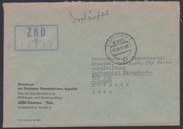 Gemany ILMENAU ZKD-Brief Kastenstempel ZKD -A- Ministerrat Dr DDR Stadardisierung Warenprüfung, Irrläufer - [6] Democratic Republic