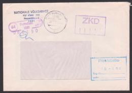 Neuseddin Nationale Volksarmee ZKD-Brief Mit Spatelstempel Potsdam 8.1.90 - [6] Democratic Republic