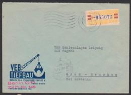 BERLIN O17 Germany, VEB Tiefbau, ZKD-Brief Mit Gummist. ZKD-Nr. 145 DDR B25L MWSt 20.8.59, Kran Baggerschaufel - DDR