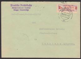 COTTBUS, Deutsche Reichsbahn Güterverkehr, ZKD-Brief, DDR B21C Nach Lübbenau 15.8.59 - Dienstpost