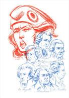 """"""" PERSONNAGES DE LA REVOLUTION """" Sur Encart 1er Jour Luxe En Soie N°té De 4 Pages De 1989  N°YT BC2570 + 2564 à 2569 FDC - Franz. Revolution"""