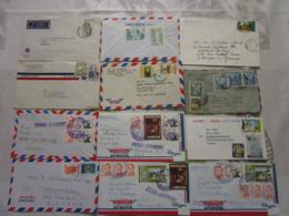 Lot De 24 Lettres Amerique Latine 2 - Briefmarken