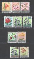 A1000 RWANDA FLORA FLOWERS !!! OVERPRINT MICHEL 16 EURO 1SET MNH - Végétaux