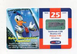"Ricarica Telefonica "" TIM "" Da 25 Euro - Usata - Validità 06.2006 -  (FDC17597) - Schede GSM, Prepagate & Ricariche"
