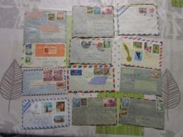 Lot De 24 Lettres Amerique Latine 9 - Briefmarken