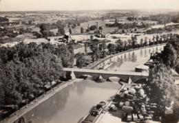 Thematiques 88 Vosges Charmes En Avion Au Dessus Le Pont Sur Le Canal Timbré Cachet - Charmes