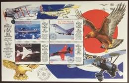 St Vincent 1998 RAF Anniversary Aircraft Birds Sheetlet MNH - St.Vincent Y Las Granadinas