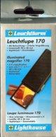 LEUCHTTURM - LOUPE LUMINEUSE De POCHE ESCAMOTABLE, Gr.5x - Pinze, Lenti D'ingrandimento E Microscopi