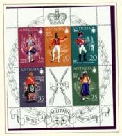 ANTIGUA  -  1970 Military Uniforms Miniature Sheet Unmounted/Never Hinged Mint - Antigua Et Barbuda (1981-...)