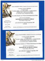 Paris 16 ème Arrondissement Mr Jacques Chirac 2 Faire Part D'invitation 2ème Festival International De La Mode - Anuncios
