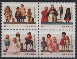 ART 14 - CANADA N° 1144/47 Neuf** Bloc De 4 Se Tenant Poupées Canadiennes - 1952-.... Reign Of Elizabeth II
