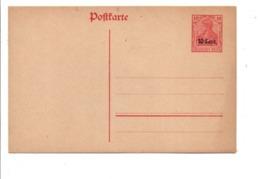 BELGIQUE OCCUPATION ALLEMANDE ENTIER CARTE LETTRE 10 CENT. NEUF - Stamped Stationery