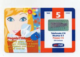 "Ricarica Telefonica "" TIM "" Da 5 Euro - Usata - Validità 5.2006 - (FDC17601) - Schede GSM, Prepagate & Ricariche"