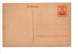 BELGIQUE OCCUPATION ALLEMANDE ENTIER CARTE LETTRE 8 CENT. NEUF - Stamped Stationery