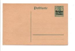 BELGIQUE OCCUPATION ALLEMANDE ENTIER CARTE LETTRE BELGIEN 5 CENT. NEUF - Stamped Stationery