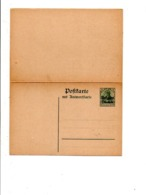 BELGIQUE OCCUPATION ALLEMANDE ENTIER CARTE REPONSE BELGIEN 5 CENTIMES NEUF - German Occupation