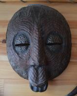 Masque Africain Cote D'Ivoire Collecte Yamoussoukro Ethnie Senoufo - Art Africain