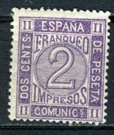 AMADEO I, 1872 2 CTS VIOLETA - 1872-73 Reino: Amadeo I