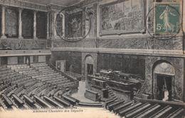 Semeuse Fond Plein (YT 137) Sur Carte Postale - Versailles - Salle Du Congrès - Ancienne Chambre Des Députés - Pour  à - Marcophilie (Lettres)