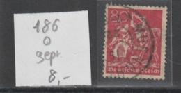 Deutsches Reich MNr. 186 Gestempelt, Geprüft - Used Stamps