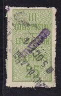 COLIS POSTAUX 25C YT8 NSG OBLITERE COTE YT 25E - Neufs
