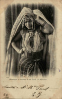 Algérie - Mauresque Se Couvrant De Son Haïlk - En L'état - Women