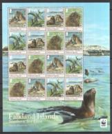 A1016 2011 FALKLAND ISLANDS WWF FAUNA SOUTHERN SEA LION #1143-46 MICHEL 40 EURO 1SH MNH - W.W.F.